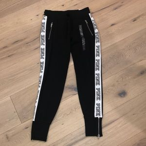 Black pants from pink